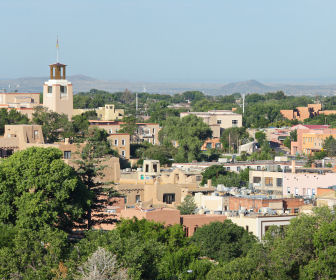 Santa Fe skyline in New Mexico