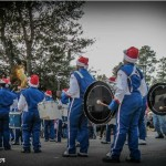 high schools band in small town parade