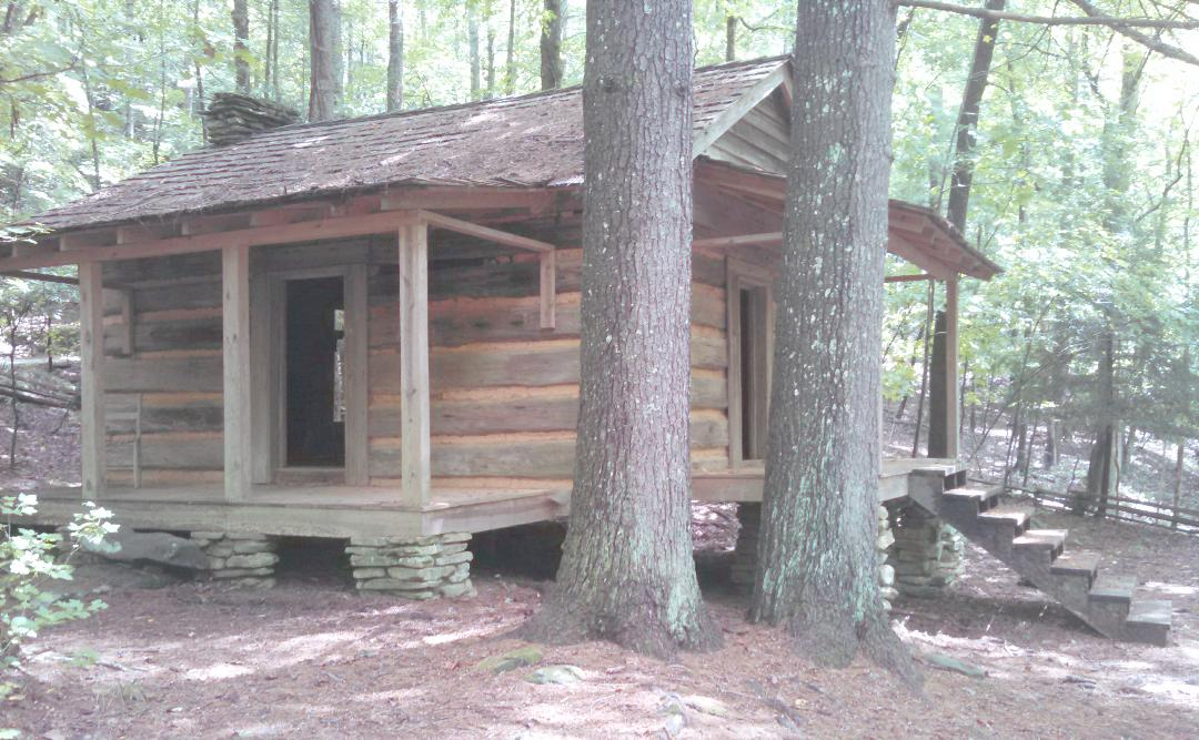 Historic cabin on the jeep trail at Big Canoe
